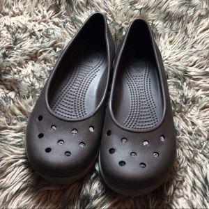 Croc slip on shoes size 9